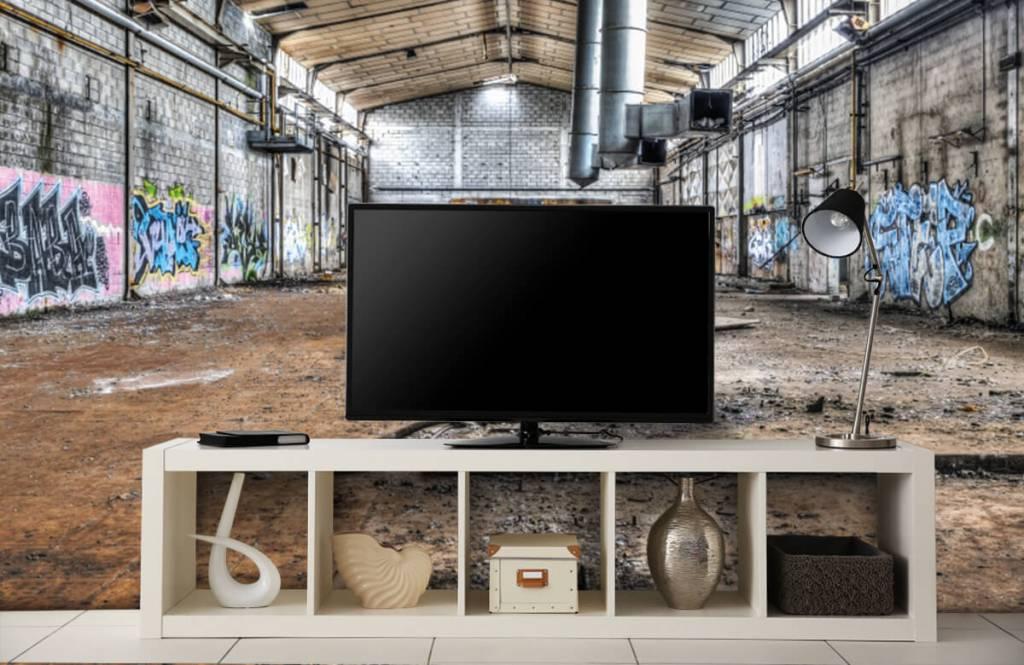 Buildings - Old abandoned factory hall - Teenage room 5
