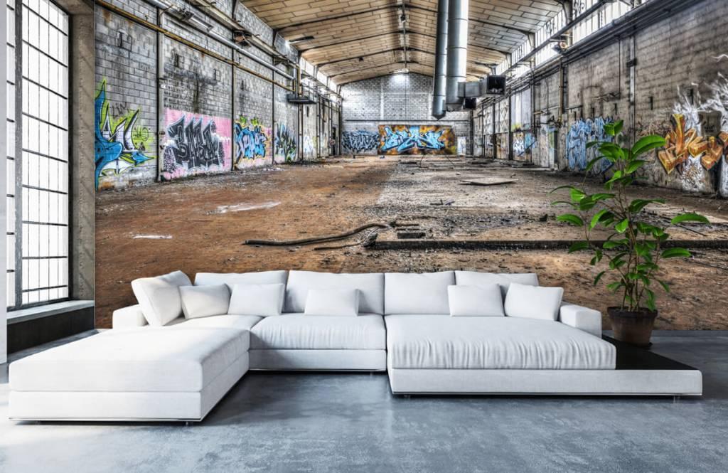 Buildings - Old abandoned factory hall - Teenage room 6