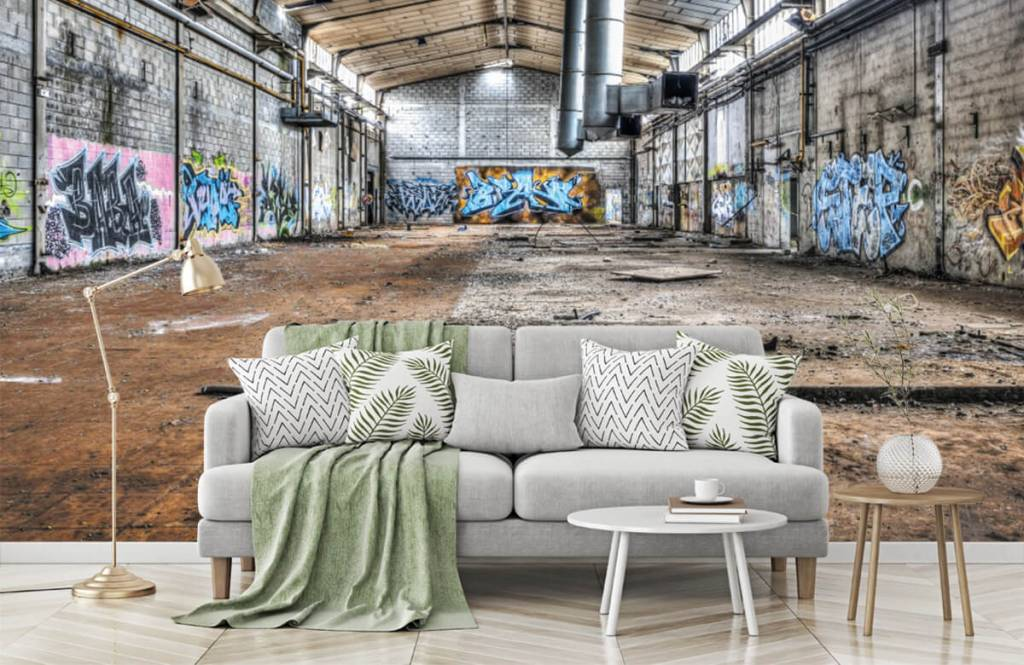 Buildings - Old abandoned factory hall - Teenage room 7