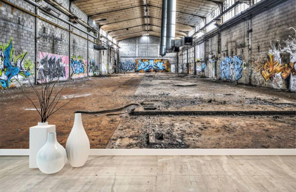 Buildings - Old abandoned factory hall - Teenage room 8