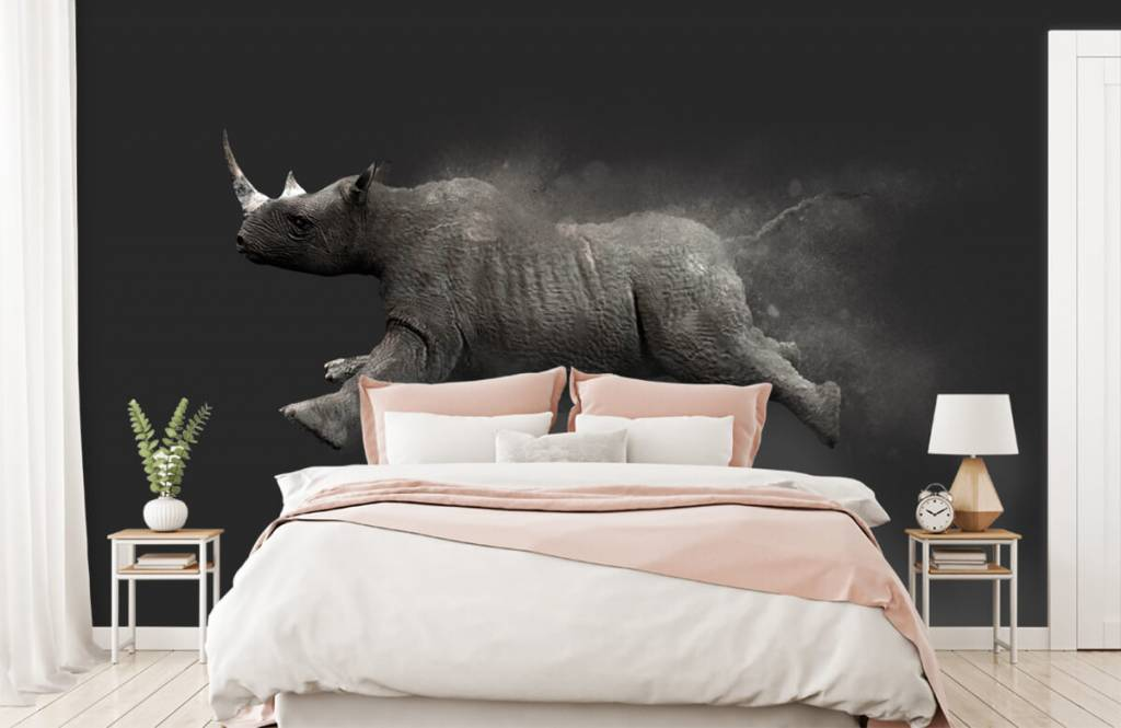 Other - Jumping rhino - Teenage room 2