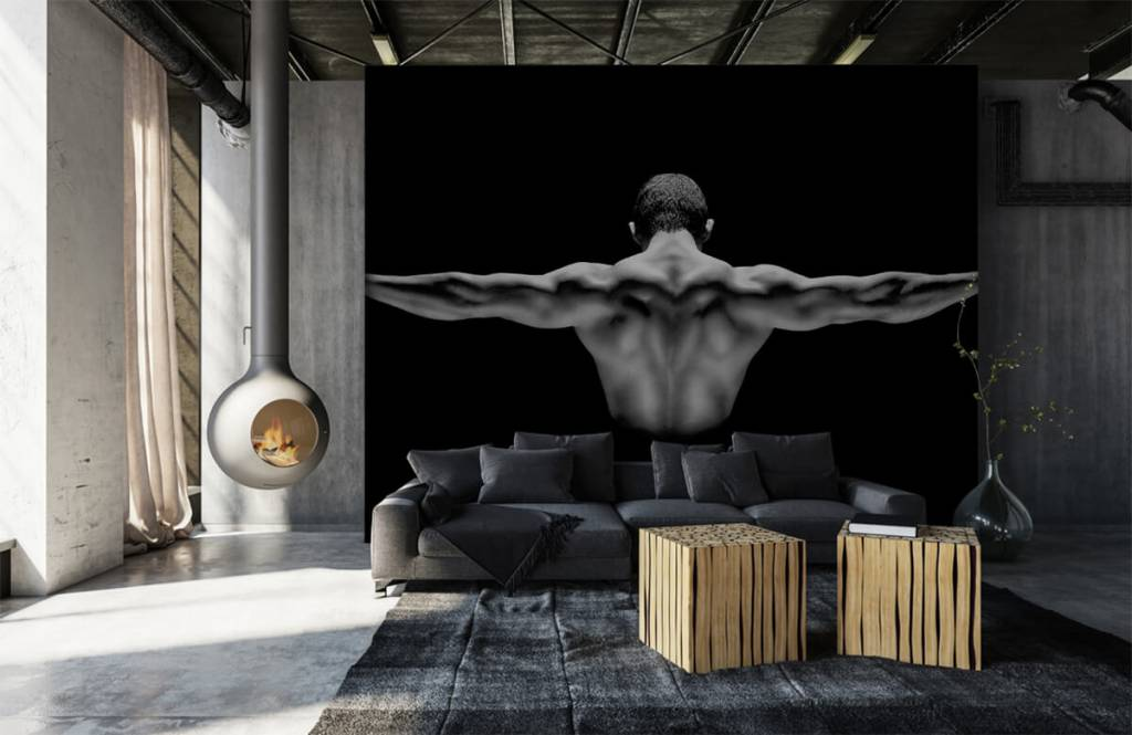 Fitness - Man with outstretched arms - Garage 1