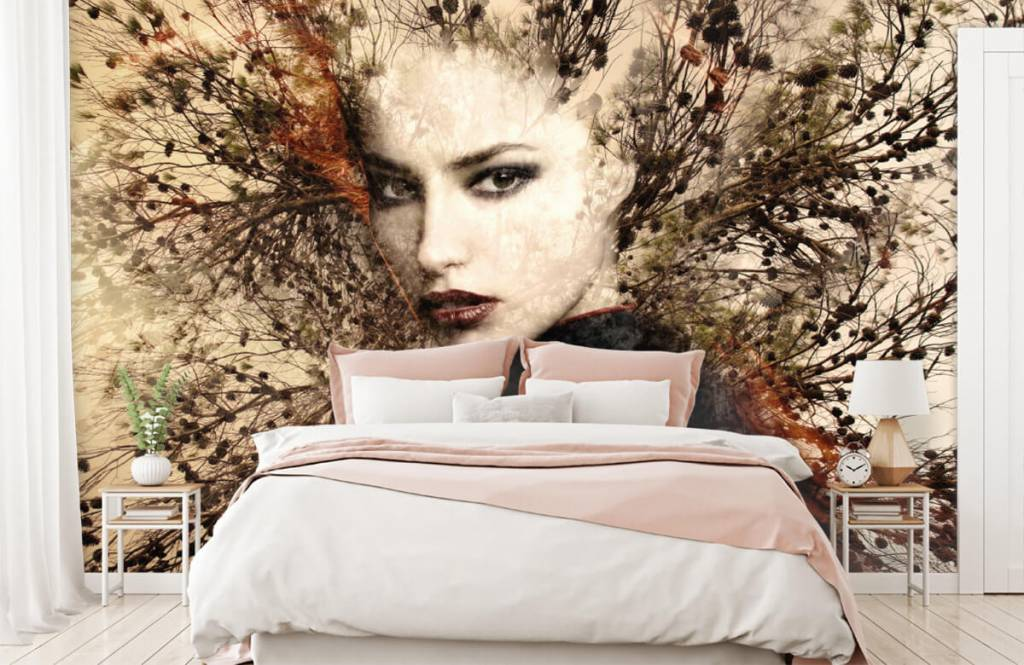 Modern - Woman and graceful branches - Teenage room 3