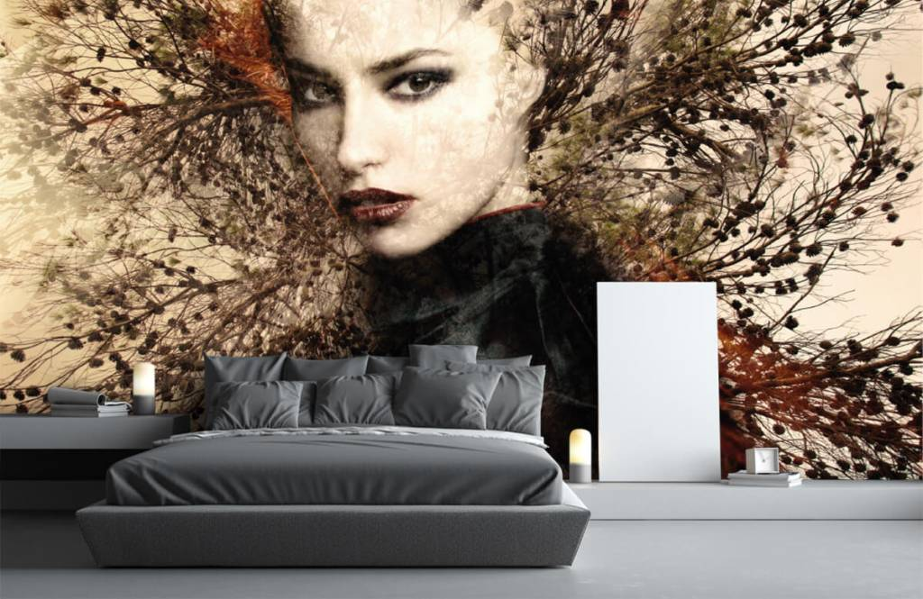 Modern - Woman and graceful branches - Teenage room 5