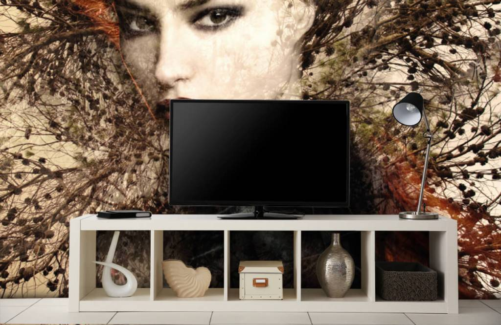Modern - Woman and graceful branches - Teenage room 6