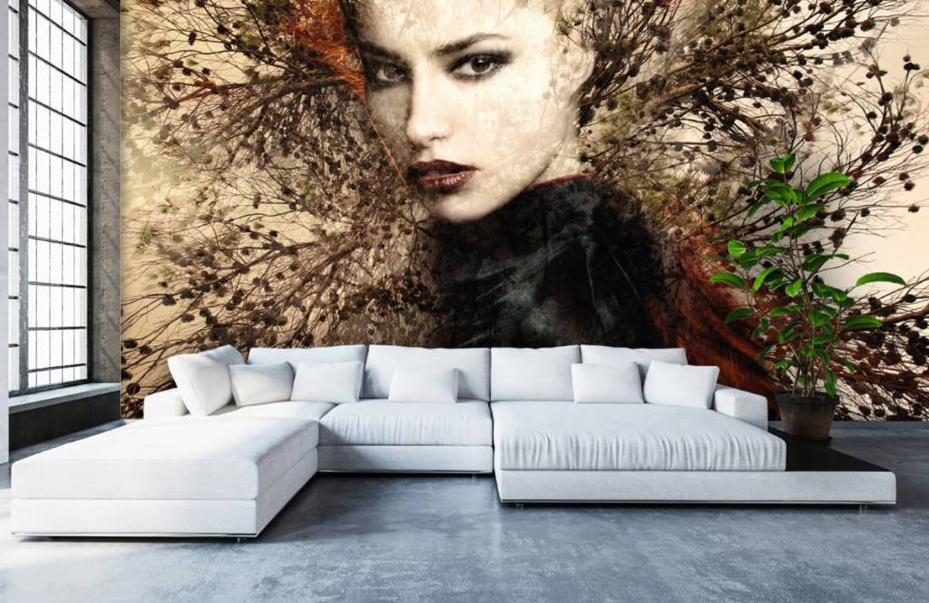 Modern - Woman and graceful branches - Teenage room 7