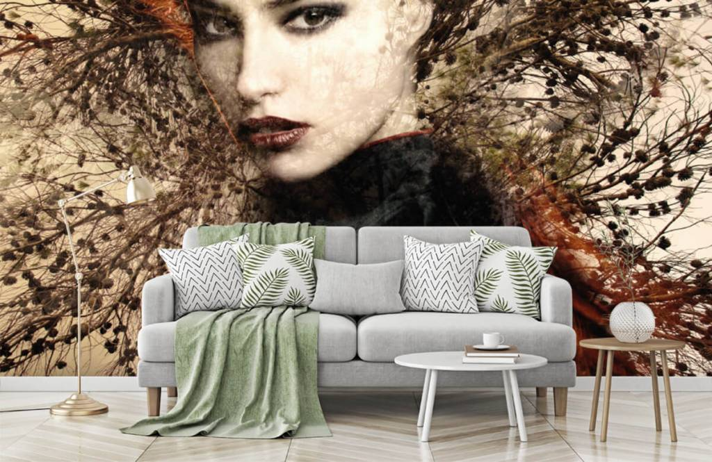 Modern - Woman and graceful branches - Teenage room 8