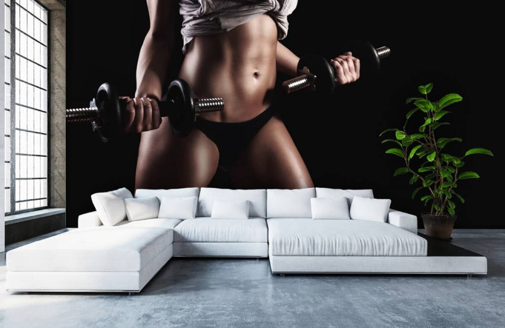 Sports & Fitness - Woman with abdominal muscles - Garage 3