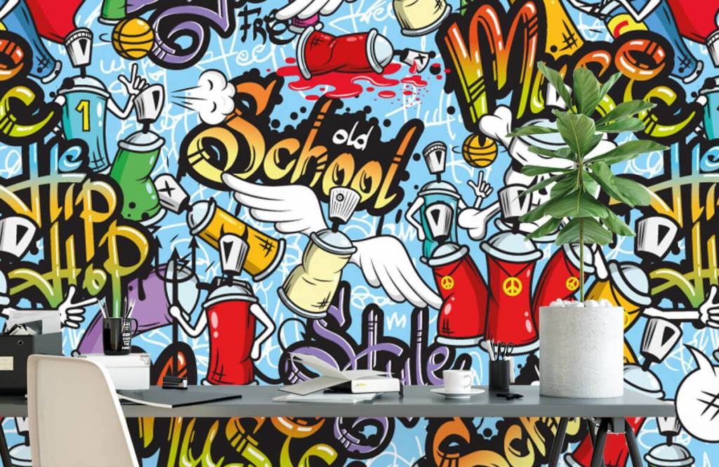 Children's wallpaper - Different music styles - Children's room 1