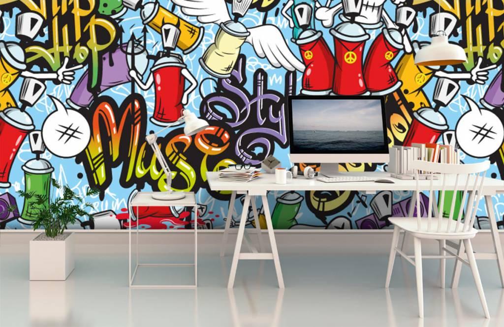 Children's wallpaper - Different music styles - Children's room 2