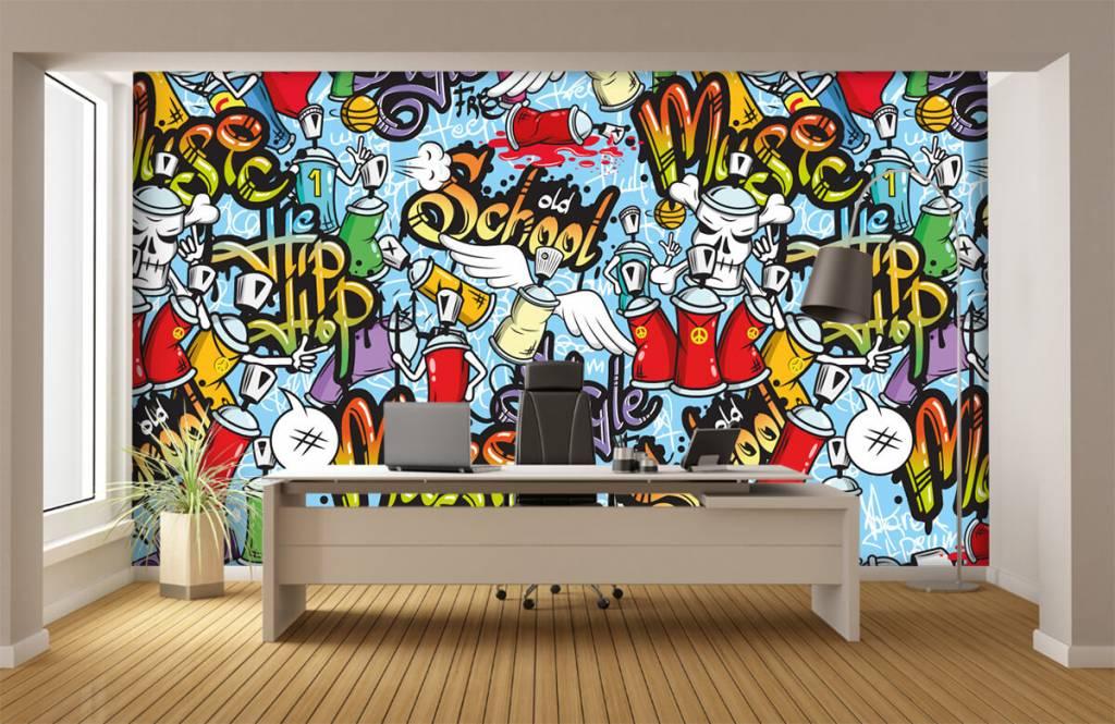 Children's wallpaper - Different music styles - Children's room 3