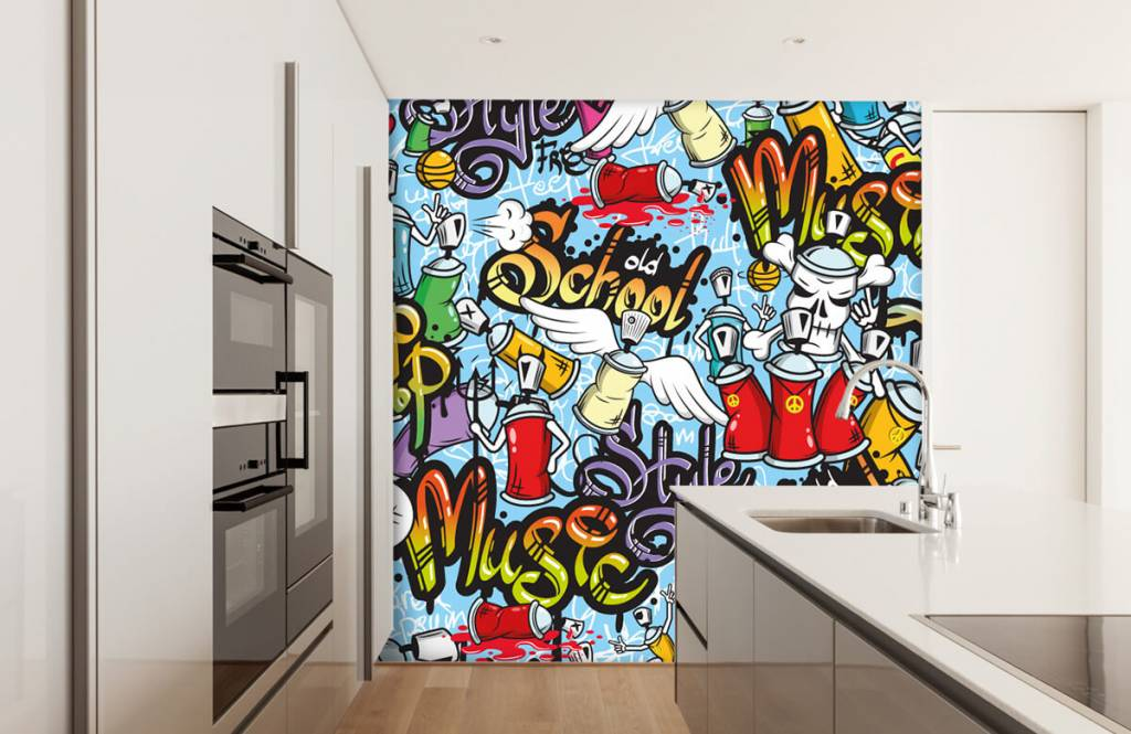 Children's wallpaper - Different music styles - Children's room 4
