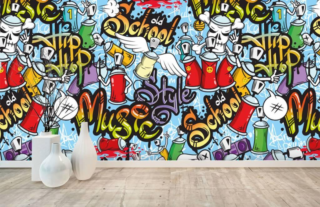 Children's wallpaper - Different music styles - Children's room 7