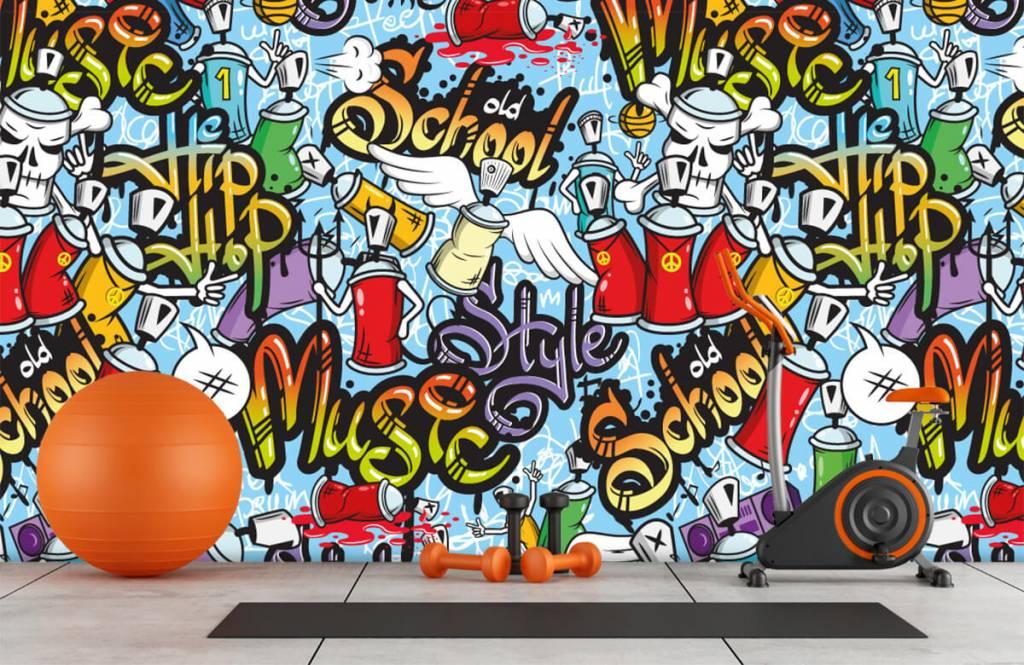 Children's wallpaper - Different music styles - Children's room 8