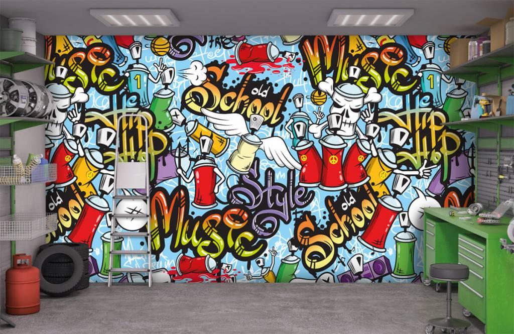 Children's wallpaper - Different music styles - Children's room 9