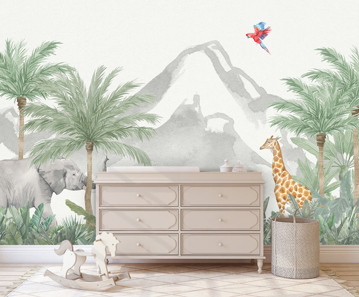 Jungle behang Animals in a jungle 1