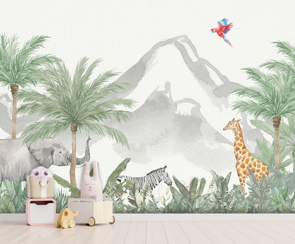 Jungle behang Animals in a jungle 3