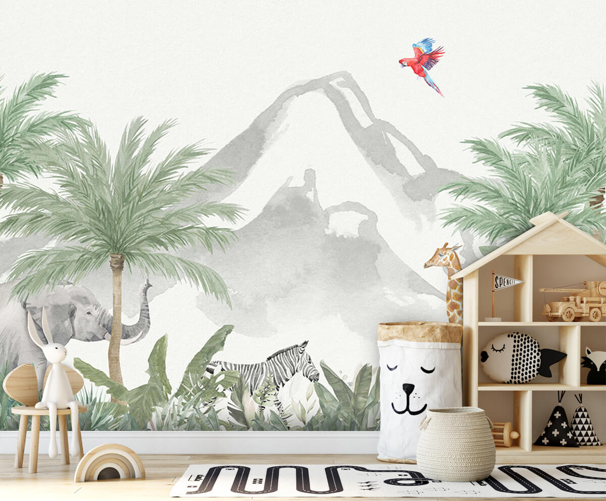 Jungle behang Animals in a jungle 4