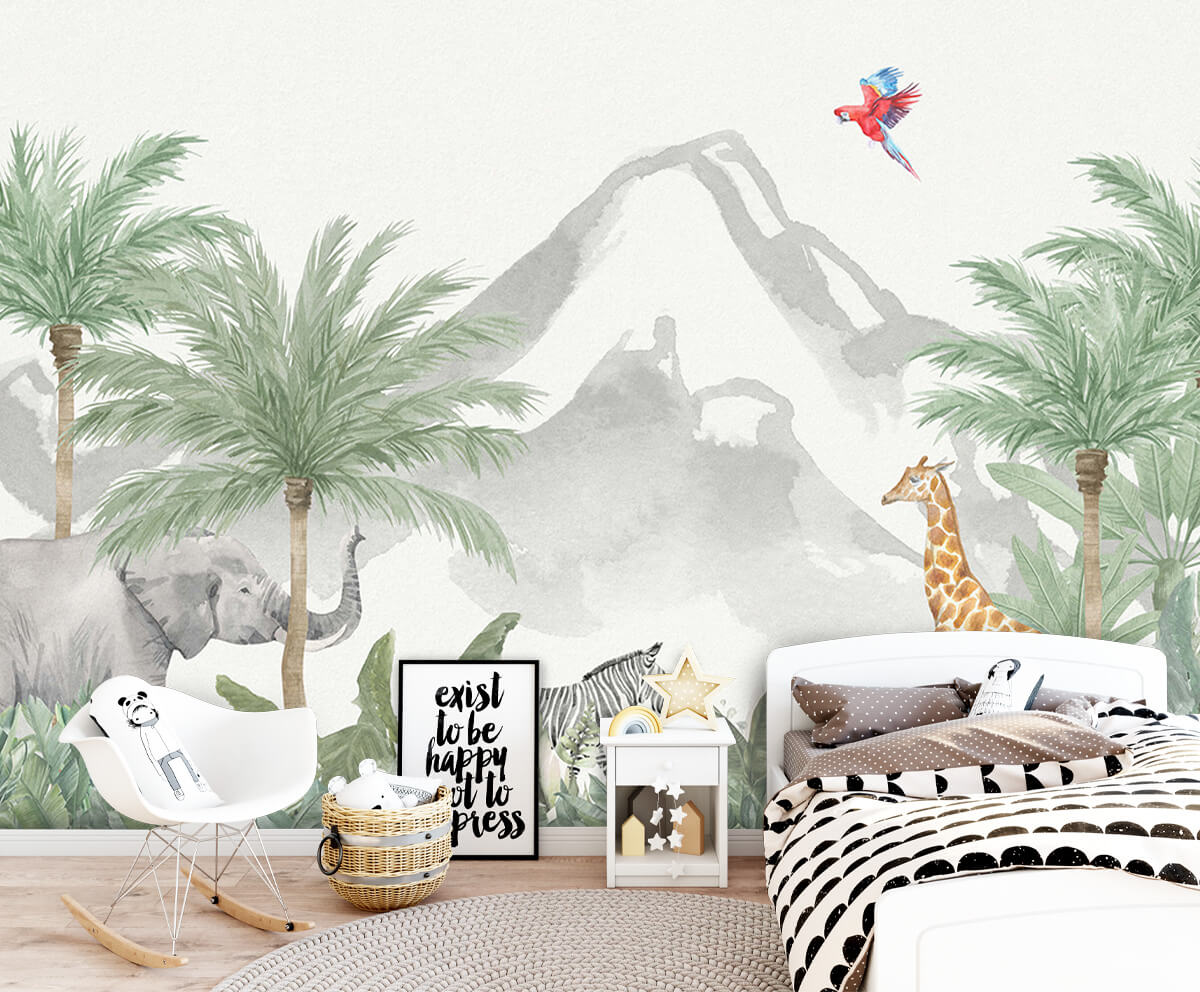 Jungle behang Animals in a jungle 9