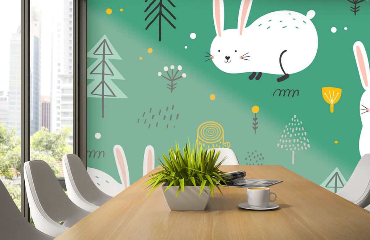 Pattern Pattern of bunnies 5