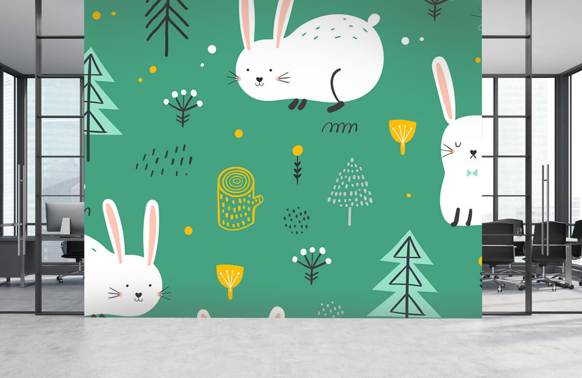 Pattern Pattern of bunnies 6