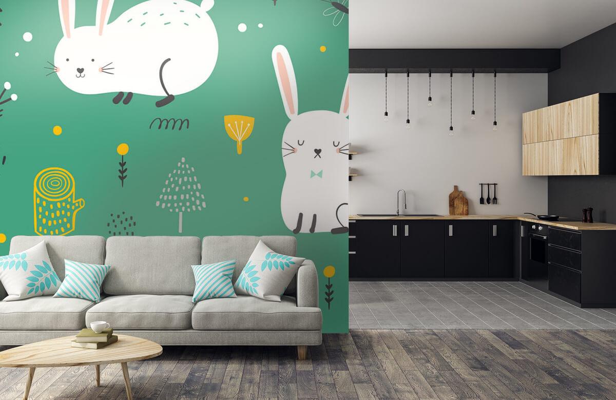 Pattern Pattern of bunnies 9