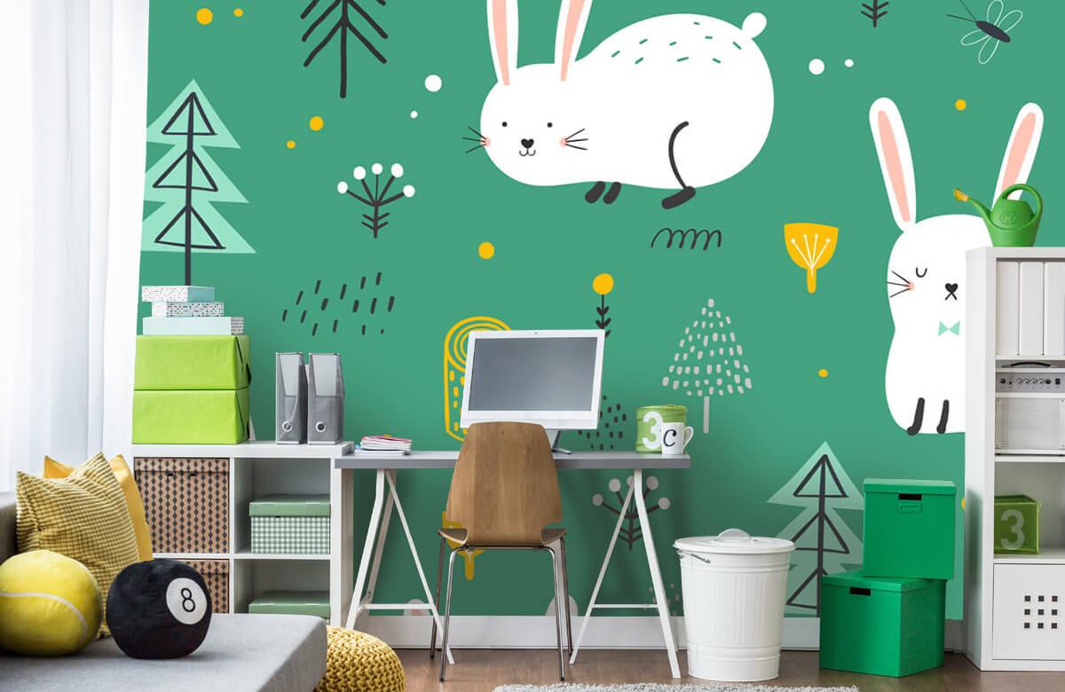 Pattern Pattern of bunnies 4