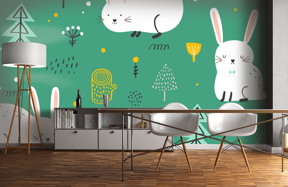 Pattern Pattern of bunnies 11