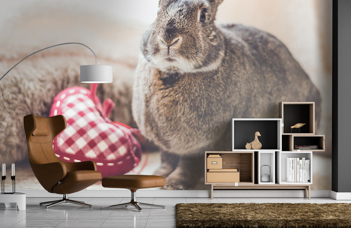 Wallpaper Rabbit with heart 6