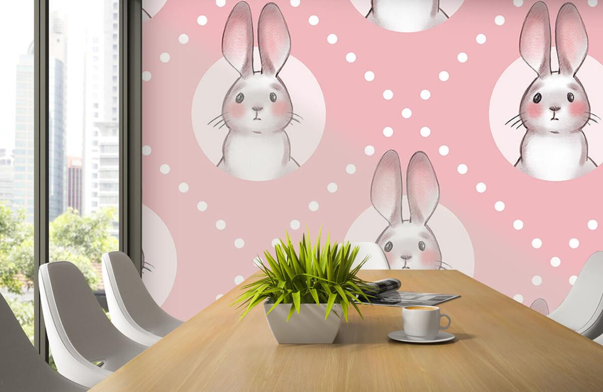 Pattern Pink rabbit pattern 6