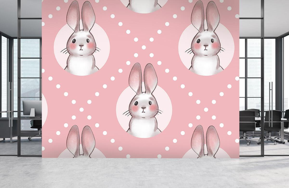 Pattern Pink rabbit pattern 8