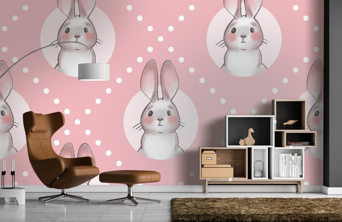 Pattern Pink rabbit pattern 9
