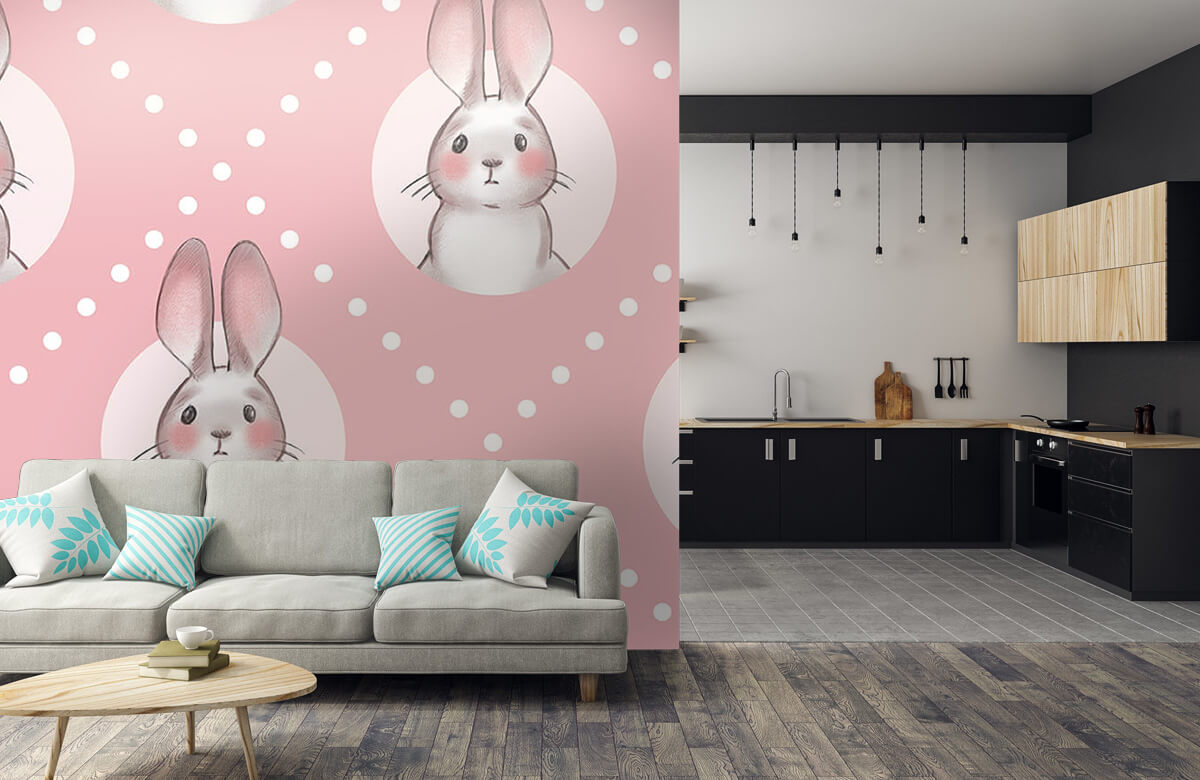 Pattern Pink rabbit pattern 10