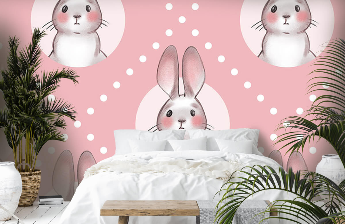 Pattern Pink rabbit pattern 7