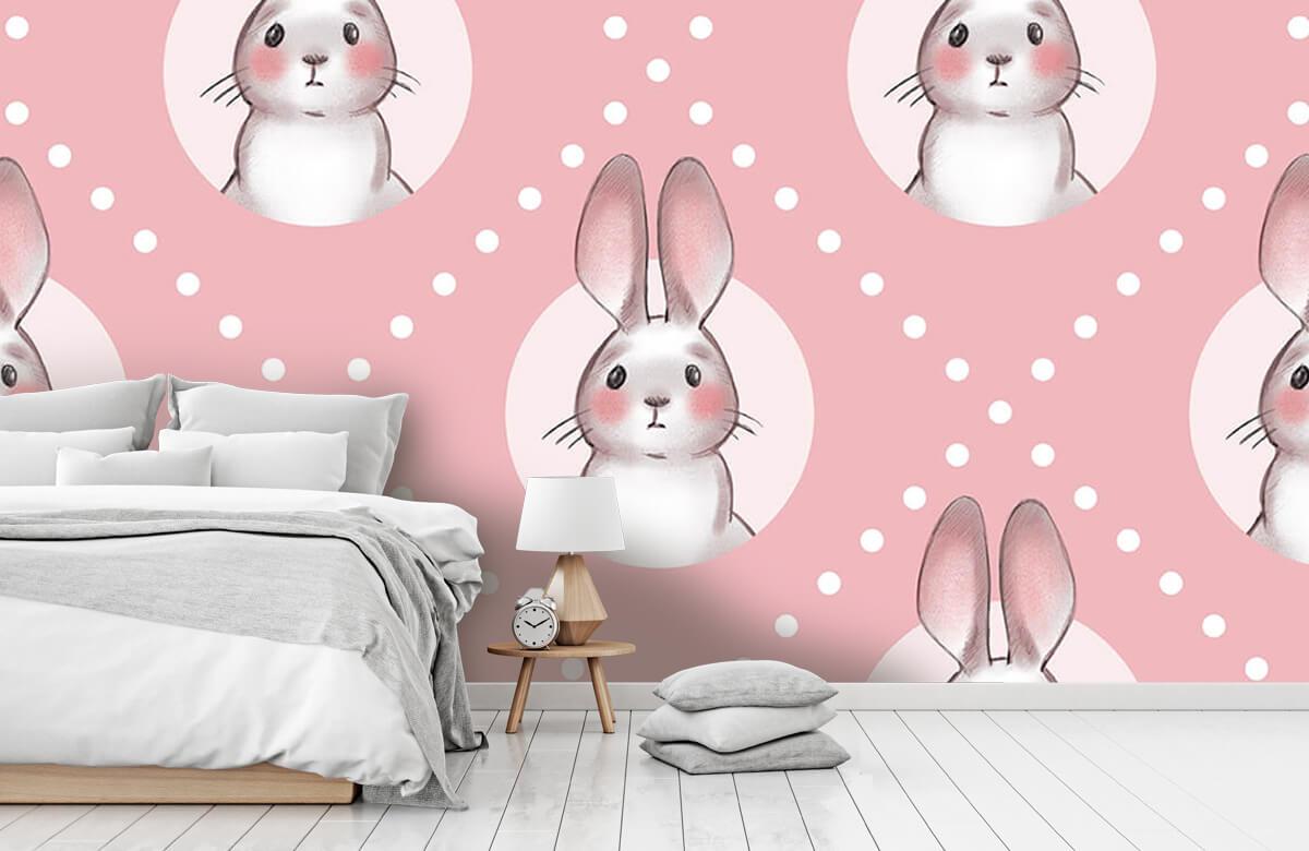 Pattern Pink rabbit pattern 2