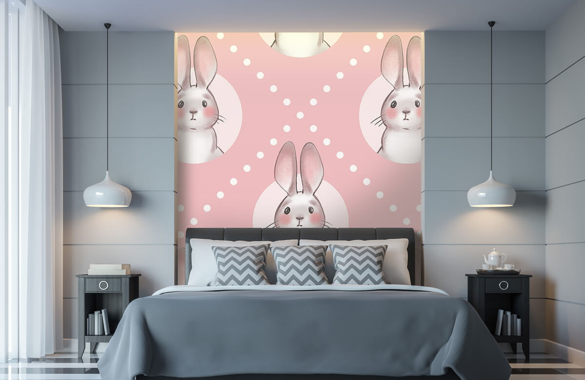 Pattern Pink rabbit pattern 11