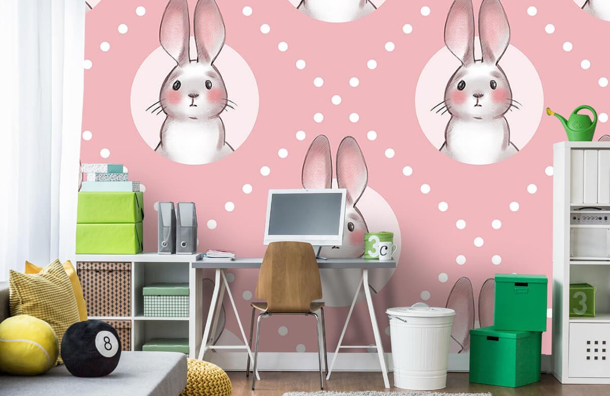 Pattern Pink rabbit pattern 4