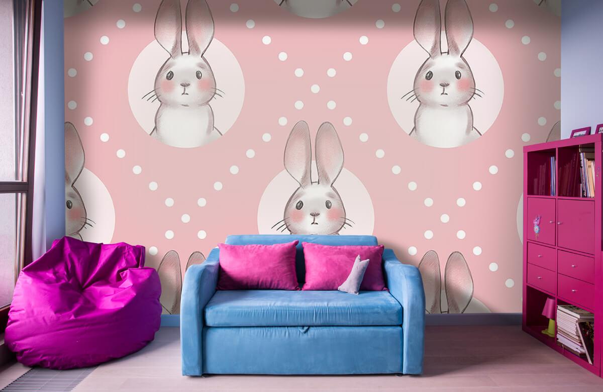 Pattern Pink rabbit pattern 1