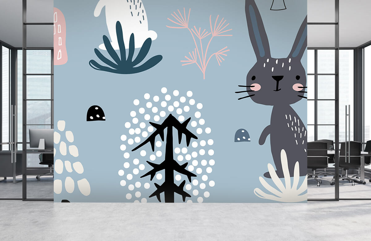 Pattern Blue rabbit pattern 5