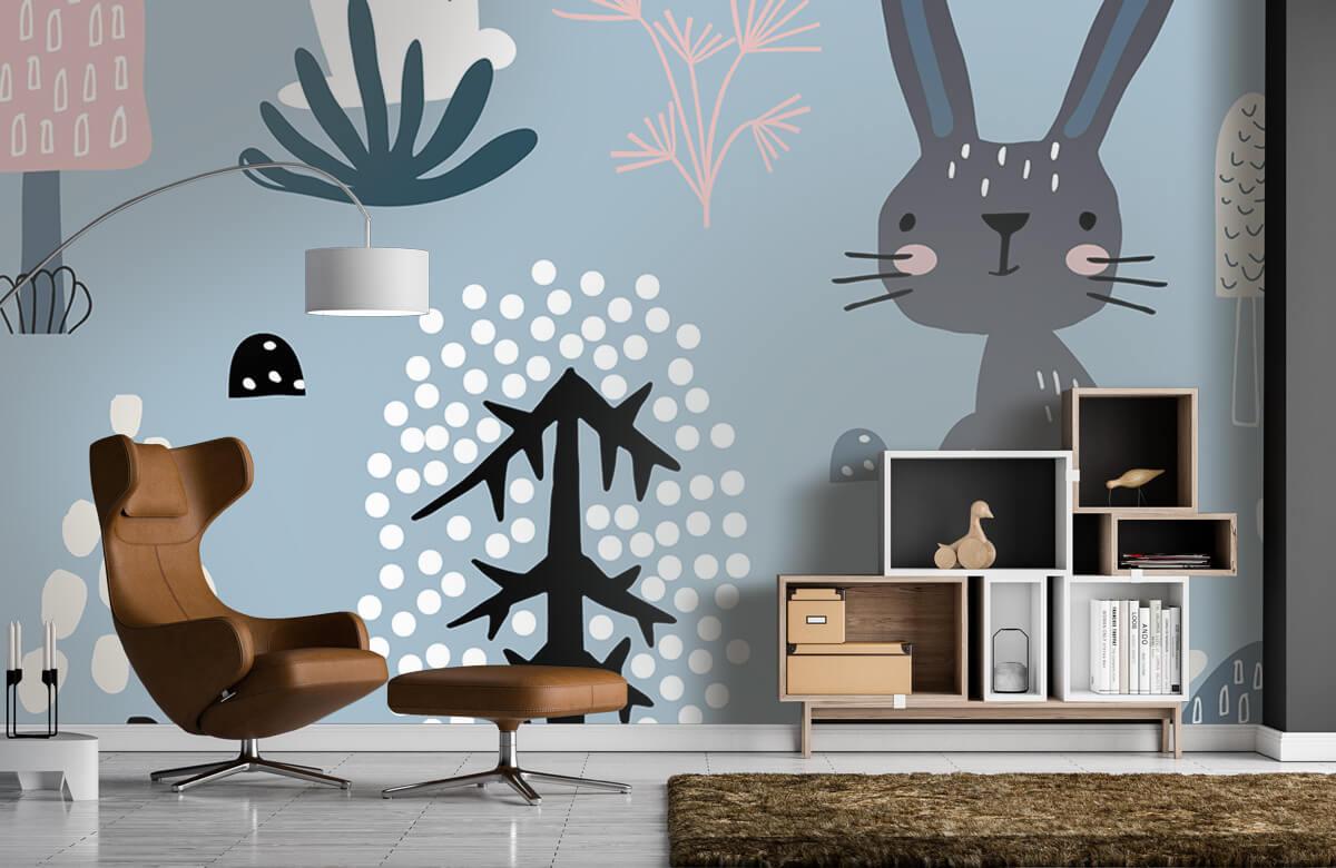 Pattern Blue rabbit pattern 7