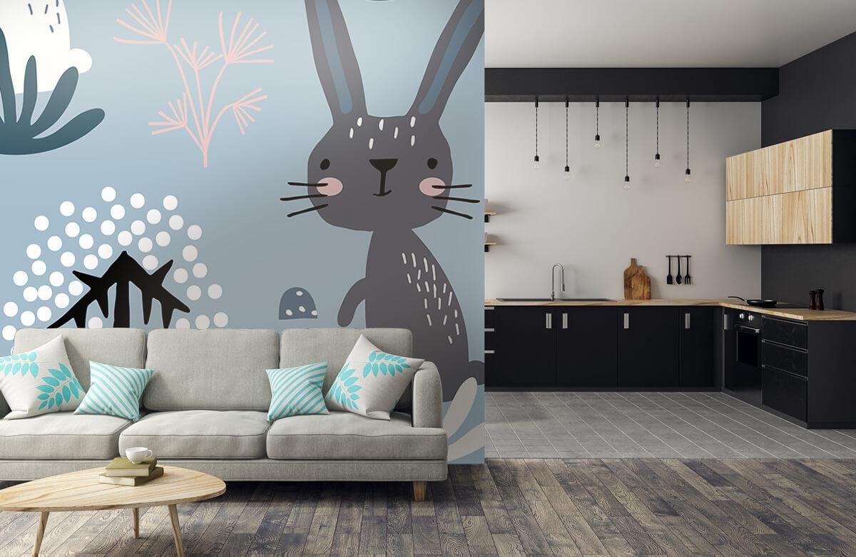 Pattern Blue rabbit pattern 8