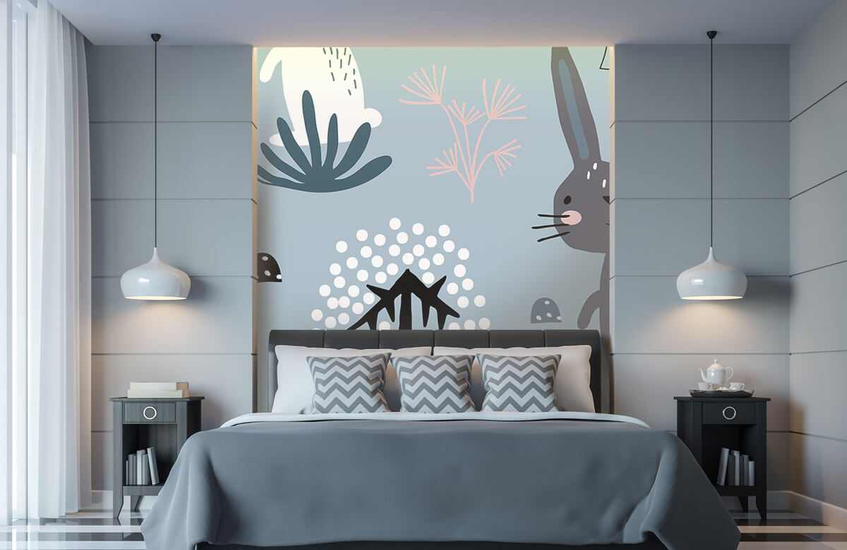 Pattern Blue rabbit pattern 6