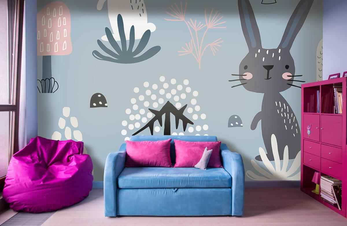 Pattern Blue rabbit pattern 4