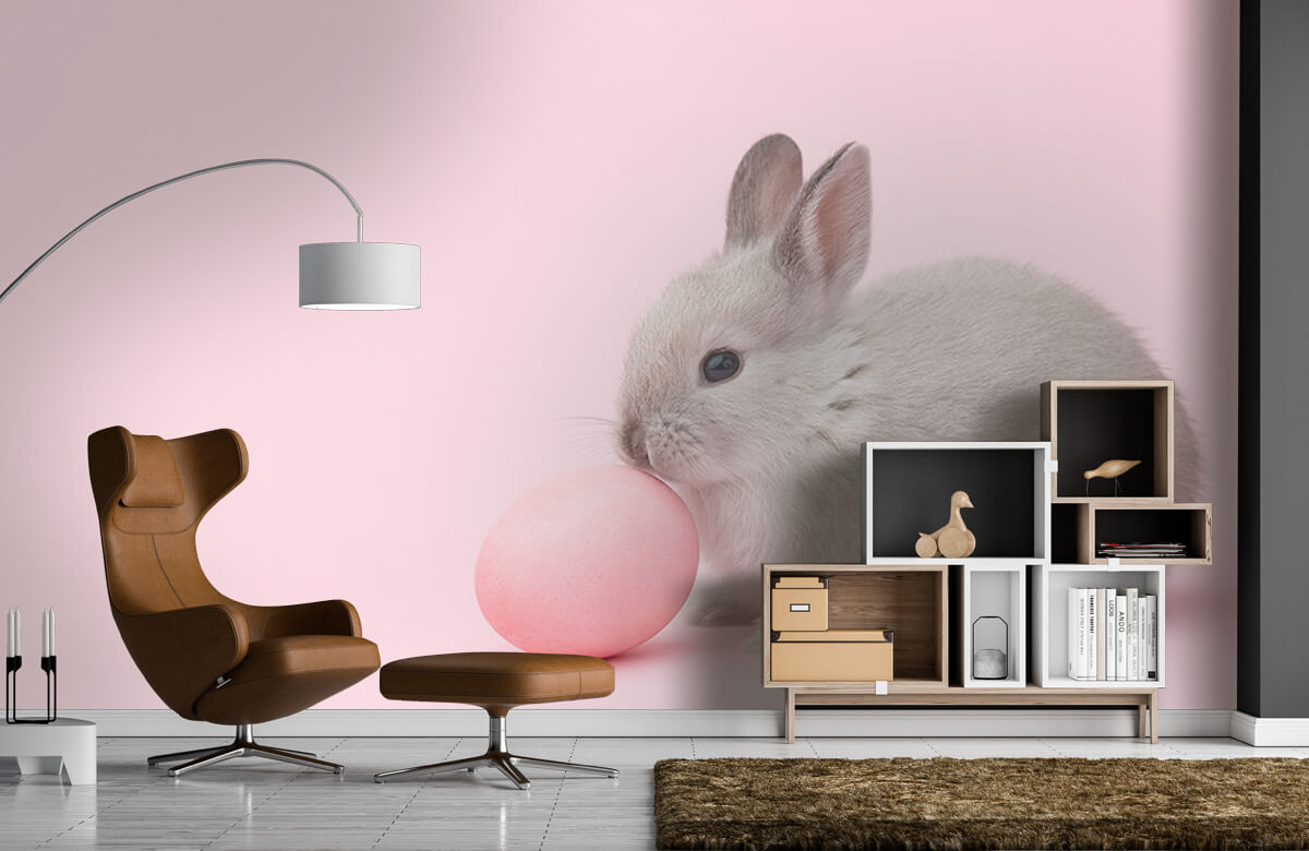Wallpaper Rabbit with egg 8