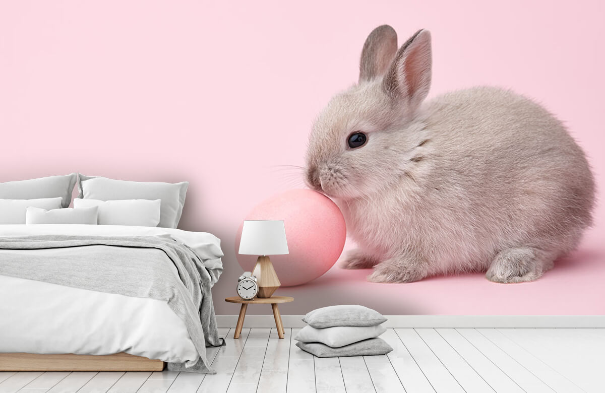 Wallpaper Rabbit with egg 9