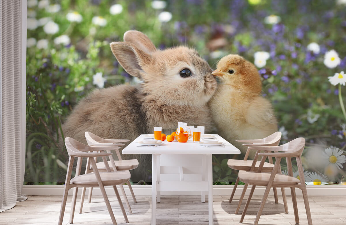 Wallpaper Rabbit and chick 2