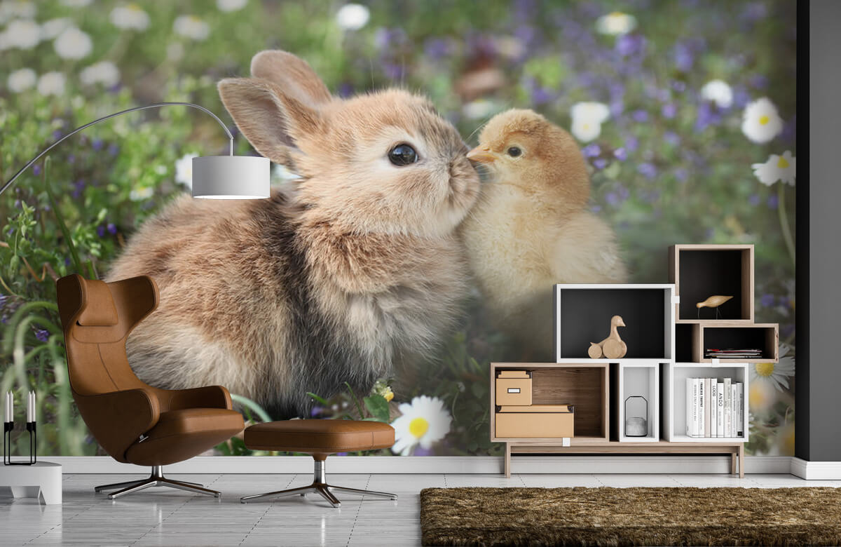 Wallpaper Rabbit and chick 7