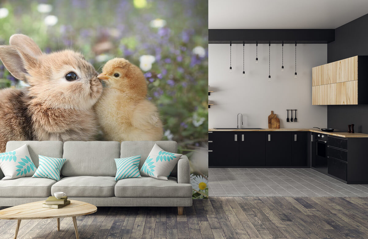 Wallpaper Rabbit and chick 9