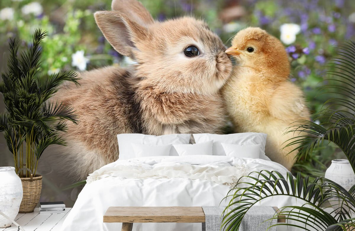 Wallpaper Rabbit and chick 8