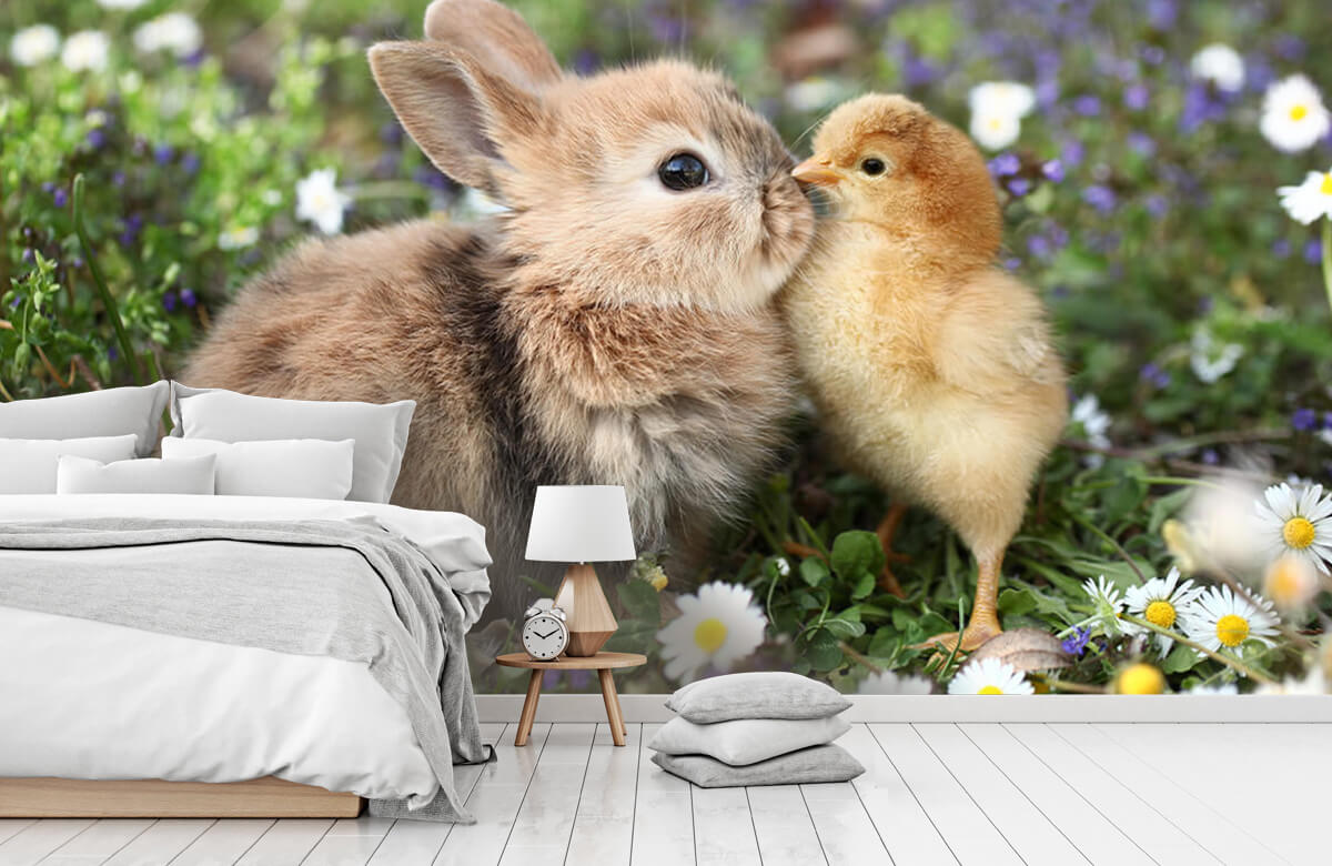 Wallpaper Rabbit and chick 3